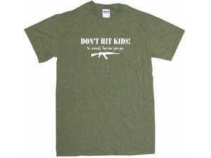 Don't Hit Kids - They Have Guns Now AK47 Machine Gun Men's Short Sleeve Shirt
