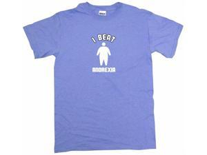 I Beat Anorexia Big Silhouette Logo Men's Short Sleeve Shirt