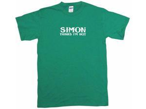 Simon Thinks I'm Hot Men's Short Sleeve Shirt