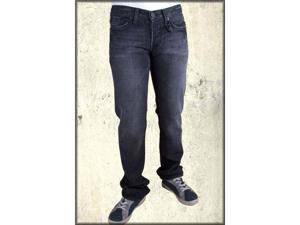 J & Company Highland Studded Cross Men's Straight Leg Jeans in Thunder Black