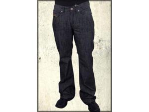 Parasuco Embroidered Pocket Men's Flare Leg Jeans in Black Gunmetal Tint