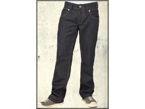 SR-07 Metal Wire Rivet Back Pocket Denim Bootcut Men's Jeans in Dark Charcoal Rinse