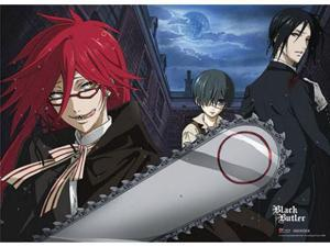 Black Butler Grell Chainsaw Scythe Wall Scroll [LONG]