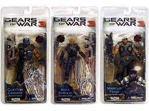 Gears of War 3: Series 1 Action Figure Set of 3
