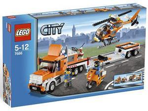 Lego City: Helicopter Transporter #7686