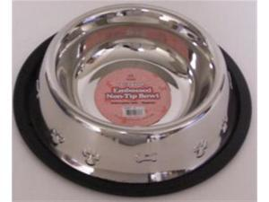 Classic Pet Products 1.5 pint Non Tip Embossed Stainless Steel Dog  Bowl