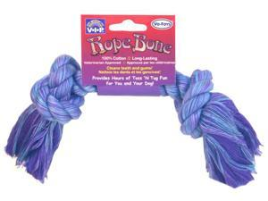 Vo-Toys Cotton Rope Bone 8in Dog Toy Assorted Colors