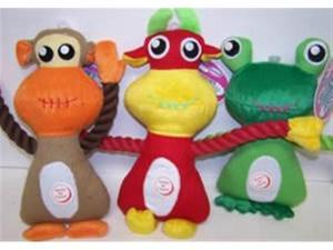 Vo-Toys The Eyes Have It Plush n Rope Pal Assorted Styles Dog Toy Each