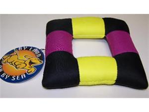Classic Pet Products 7in  Canvas Square Ring Dog Toy
