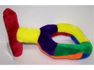 Classic Pet Products T O-Ring Puller Multicolor Large Plush Dog Toy