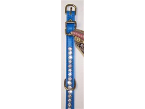 Beverly Vinyl Dog Collar 12in Blue 462P