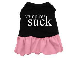 Vampires Suck Dog Dress - Pink Sm