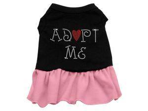 Adopt Me Rhinestone Dog Dress - Pink Lg