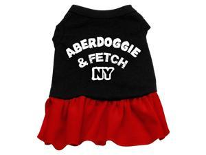 Aberdoggie NY Dog Dress - Red Sm