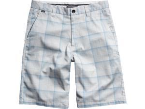Fox Racing Essex Plaid Youth Boys Outdoor Walk Shorts - Light Grey / Size 22