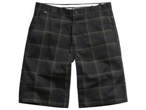 Fox Racing Essex Plaid Youth Boys Outdoor Walk Shorts - Black / Size 22