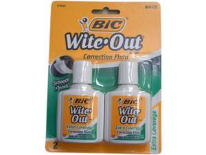 Bic Wite Out Extra Coverage Correction Fluid-51443 .7 Fl oz. each (2 per pack)