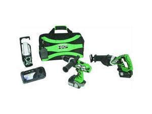Hitachi Power Tools 18V 3 Tool Li-Ion Kit
