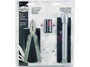 Sheffield 2-Piece Multitool And Flashlight Set.