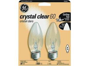 Ge Lighting 60W 2Pk Clr Candle Bulb 44405 60Bm