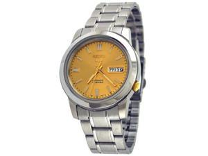 Seiko 5 #SNKK13 Men's  Gold Dial Self Winding Automatic