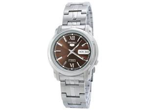 Seiko SNKK79 Mens Watch Stainless Steel Seiko 5 Automatic Black Dial Link Bracelet