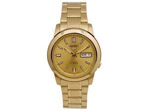 Seiko SNKK20 Mens Watch Gold Tone Seiko 5 Automatic