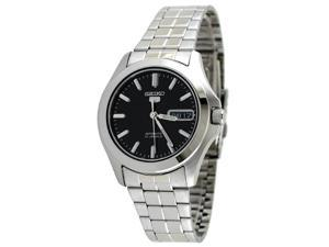 Seiko 5 #SNKK93 Men's Stainless Steel Black Dial Self Winding Automatic Watch