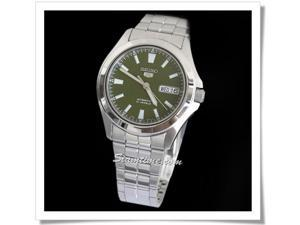 Seiko 5 SNKL05 Men's Silver Green Dial Self Winding Automatic Watch