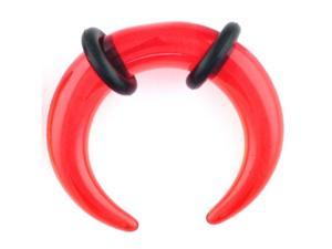One Acrylic Pincher: 4g Red (SOLD INDIVIDUALLY. ORDER TWO FOR A PAIR.)
