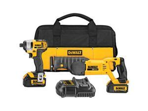 DEWALT 20 V MAX 2-Tool Combo Kit - 20 V MAX 1/4 In. impact driver, 20 V MAX reciprocating saw
