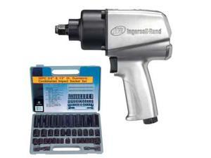Ingersoll-Rand 450 lb. 1/2'' Heavy Duty Impact Wrench & Impact Socket Set Combo