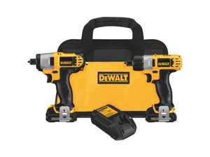 DCK210S2 12V MAX Cordless Lithium-Ion 1/4 in. Impact Driver and Screwdriver Combo Kit