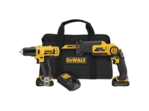 DEWALT DCK212S2 12-Volt MAX Drill Driver and Reciprocating Saw Kit