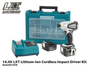 BTD130FW 14.4V Cordless LXT Lithium-Ion 1/4-in Impact Driver Kit