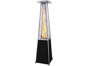 Garden Radiance Black w/ Stainless Steel Pyramid Outdoor Patio Heater GRP4000BK