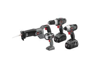 PC418IDC-2 Tradesman 18V Cordless 4-Tool Combo Kit