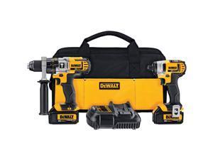 DeWALT DCK290L2 20V MAX Lithium Ion Cordless Hammerdrill Drill Impact Driver Kit