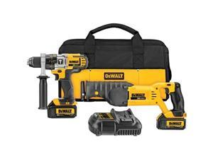 DeWALT DCK292L2 20V MAX Lithium Ion Hammerdrill Drill Recip Reciprocating Saw