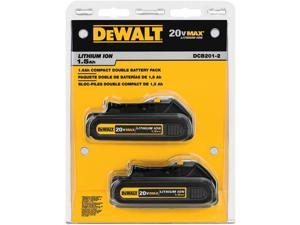 DeWALT DCB201-2 20V MAX Li-Ion Compact Battery 2-Pack