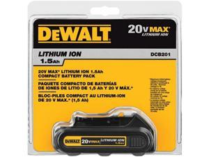 DCB201 20V MAX 1.5 Ah Compact Lithium-Ion Battery