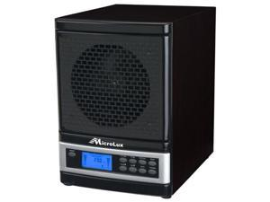 MicroLux 7-Stage UV Ion Air Purifier with Remote (Black)