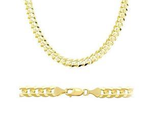 Solid 14k Yellow Gold Cuban Curb Chain Necklace 5.9mm 24""