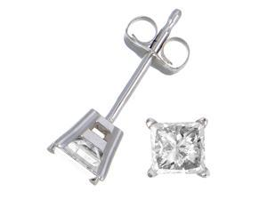 0.15 CT Diamond Stud Earrings 10K White Gold
