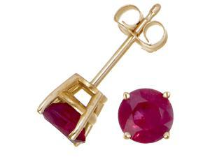 14K Yellow Gold Ruby Stud Earrings (1/2 CT)
