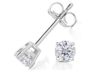 0.30 CT Diamond Stud Earrings 14k White Gold
