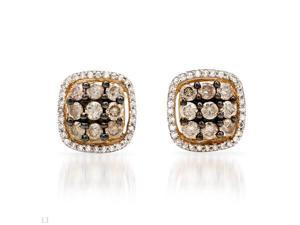 1.1 CTW I1-I2 Color J-K Diamonds 14K Gold Earrings
