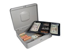 12 Inch Gray Cash Box with Combination Lock