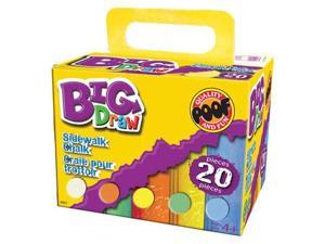 Big Draw 20 Pc. Jumbo Sidewalk Chalk