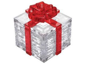 3D Crystal Puzzle - Gift Box (Red Bow): 38 Pcs
